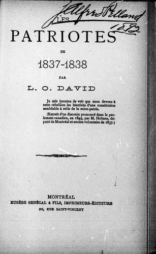 Download Les patriotes de 1837-1838