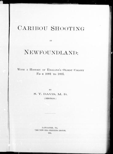 Caribou shooting in Newfoundland
