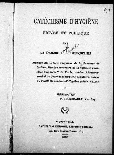 Catéchisme d'hygiène privée et publique