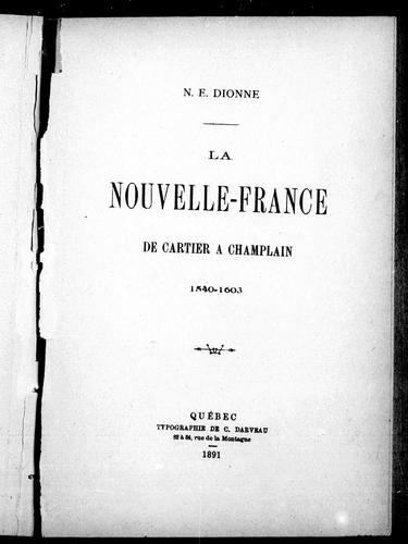 Download La Nouvelle-France de Cartier à Champlain, 1540-1603