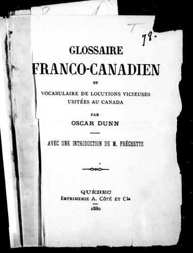 Download Glossaire franco-canadien