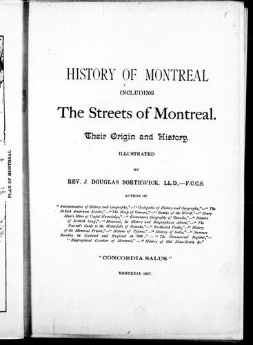 Download History of Montreal