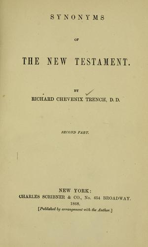 Synonyms of the New Testament.