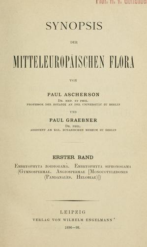 Download Synopsis der mitteleuropaïschen flora