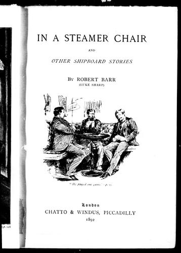 In a steamer chair, and other shipboard stories