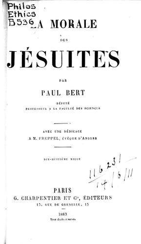 La morale des jésuites