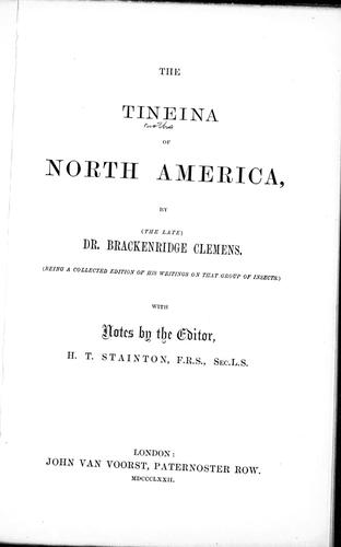 Download The Tineina of North America