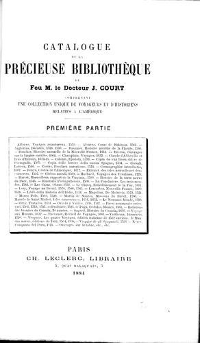 Download Catalogue de la précieuse bibliothèque de feu M. le docteur J. Court