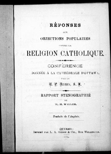 Download Réponses aux objections populaires contre la religion catholique