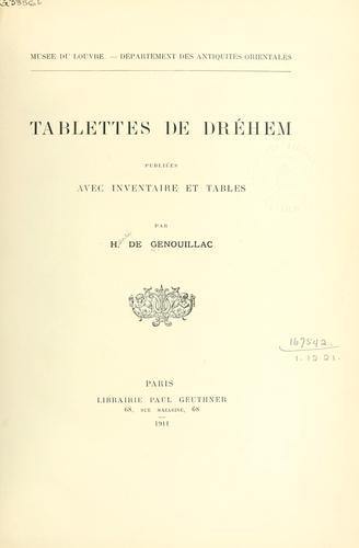 Tablettes de Dréhem