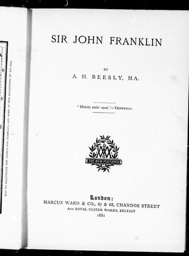 Download Sir John Franklin