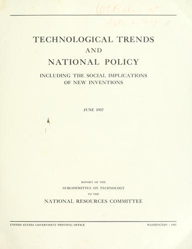 Technological trends and national policy