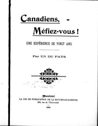 Canadiens, méfiez-vous