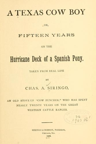Download A Texas cow boy, or, Fifteen years on the hurricane deck of a Spanish pony
