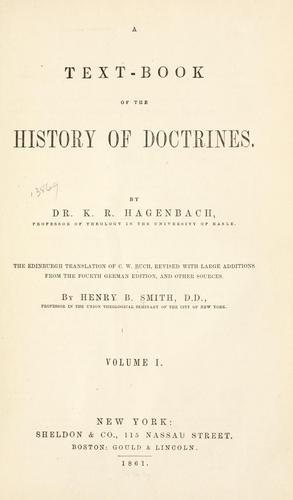 Download A text-book of the history of doctrines