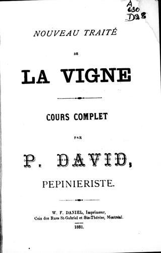 Download Nouveau traité de la vigne