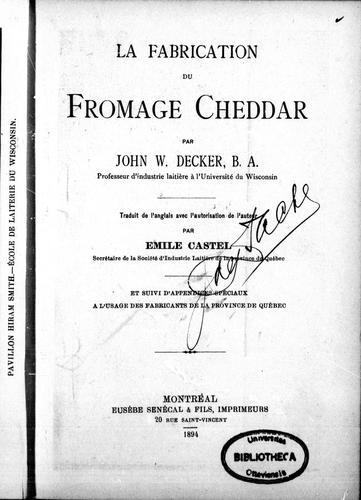 La fabrication du fromage cheddar