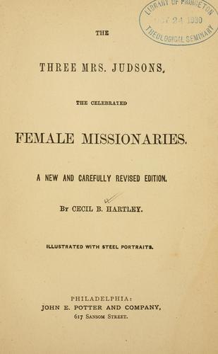The three Mrs. Judsons