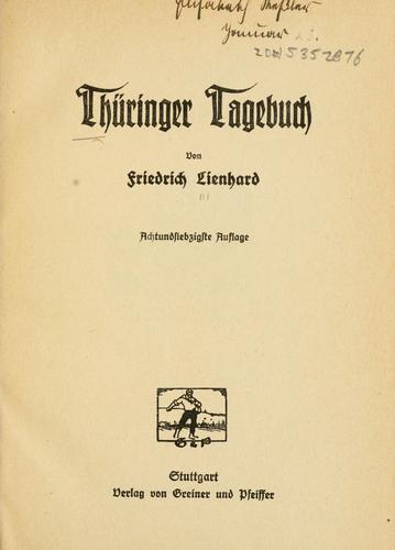 Download Thüringer Tagebuch.