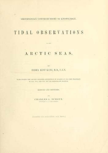 Download Tidal observations in the Arctic seas.