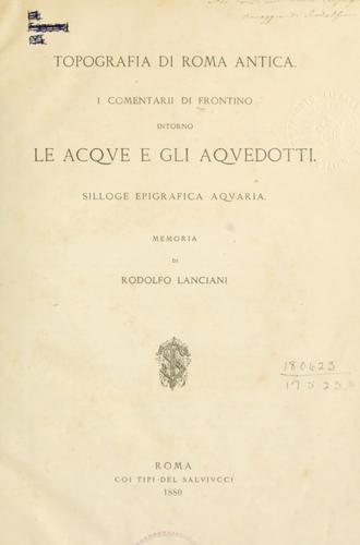 Topografia di Roma antica.