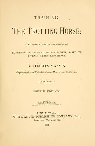 Download Training the trotting horse