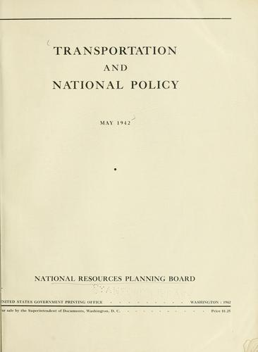 Transportation and National Policy.