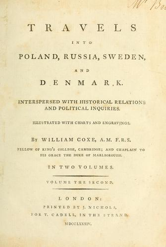 Download Travels into Poland, Russia, Sweden, and Denmark.