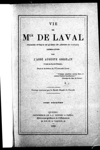 Download Vie de Mgr de Laval