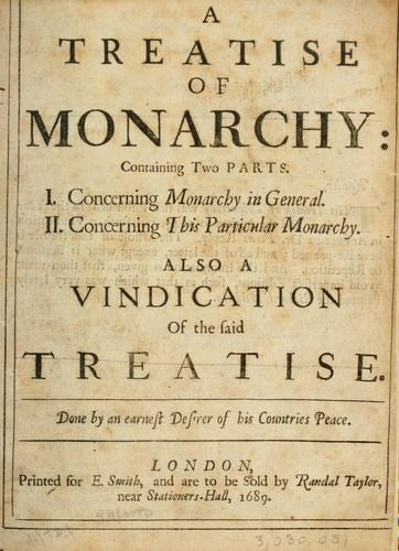 Download A treatise of monarchy