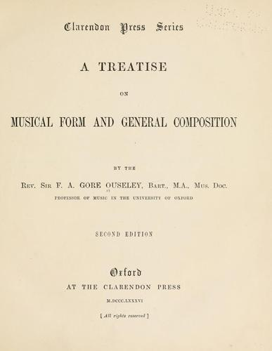 Download A treatise on musical form and general composition