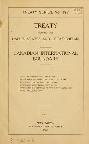 Treaty between the United States and Great Britain.