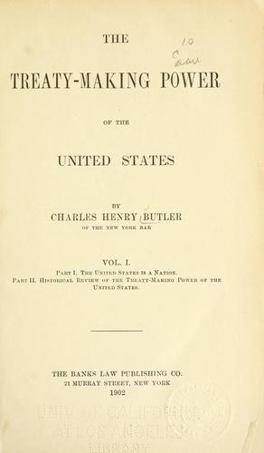 Download The treaty making power of the United States