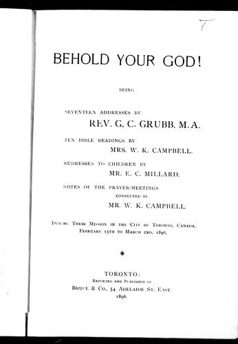 Download Behold your God!