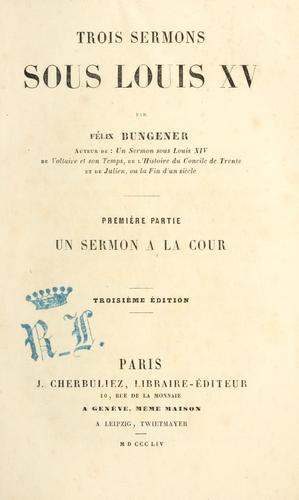 Download Trois sermons sous Louis XV.