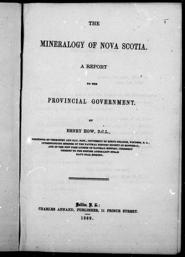 Download The mineralogy of Nova Scotia