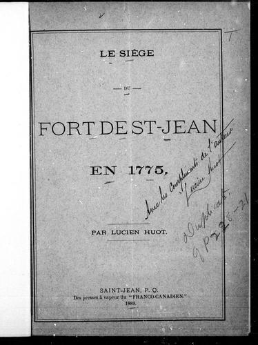 Download Le siège du Fort de St-Jean en 1775