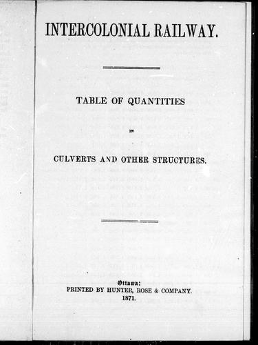 Download Table of quantities in culverts and other structures