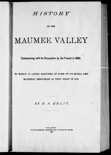 Download History of the Maumee Valley