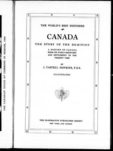 Download Canada, the story of the Dominion