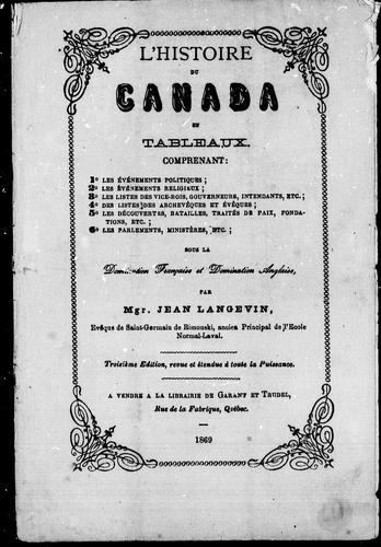 Download L' histoire du Canada en tableaux