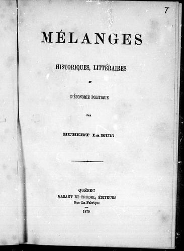 Download Mélanges historiques, littéraires et d'économie politique