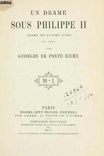 Un drame sous Philippe II