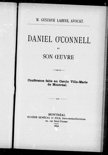 Download Daniel O'Connell et son oeuvre