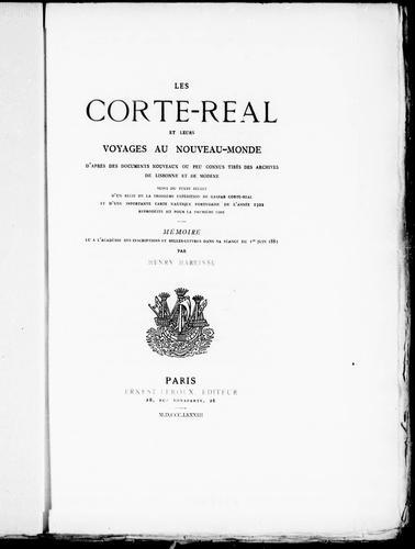 Les Corte-Real et leurs voyages au Nouveau-Monde