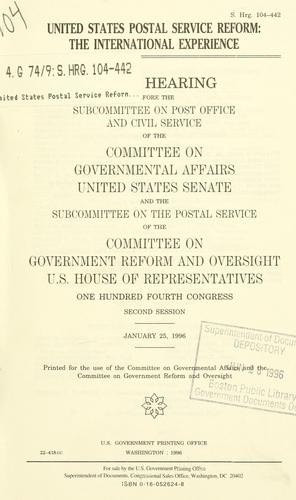 Download United States Postal Service reform