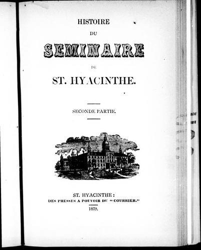 Download Histoire du Séminaire de St. Hyacinthe