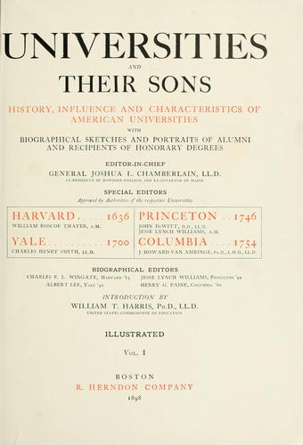Universities and their sons