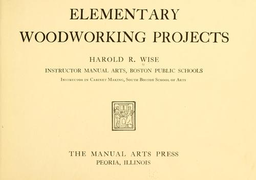 Download Elementary woodworking projects