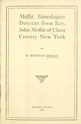Moffat genealogies